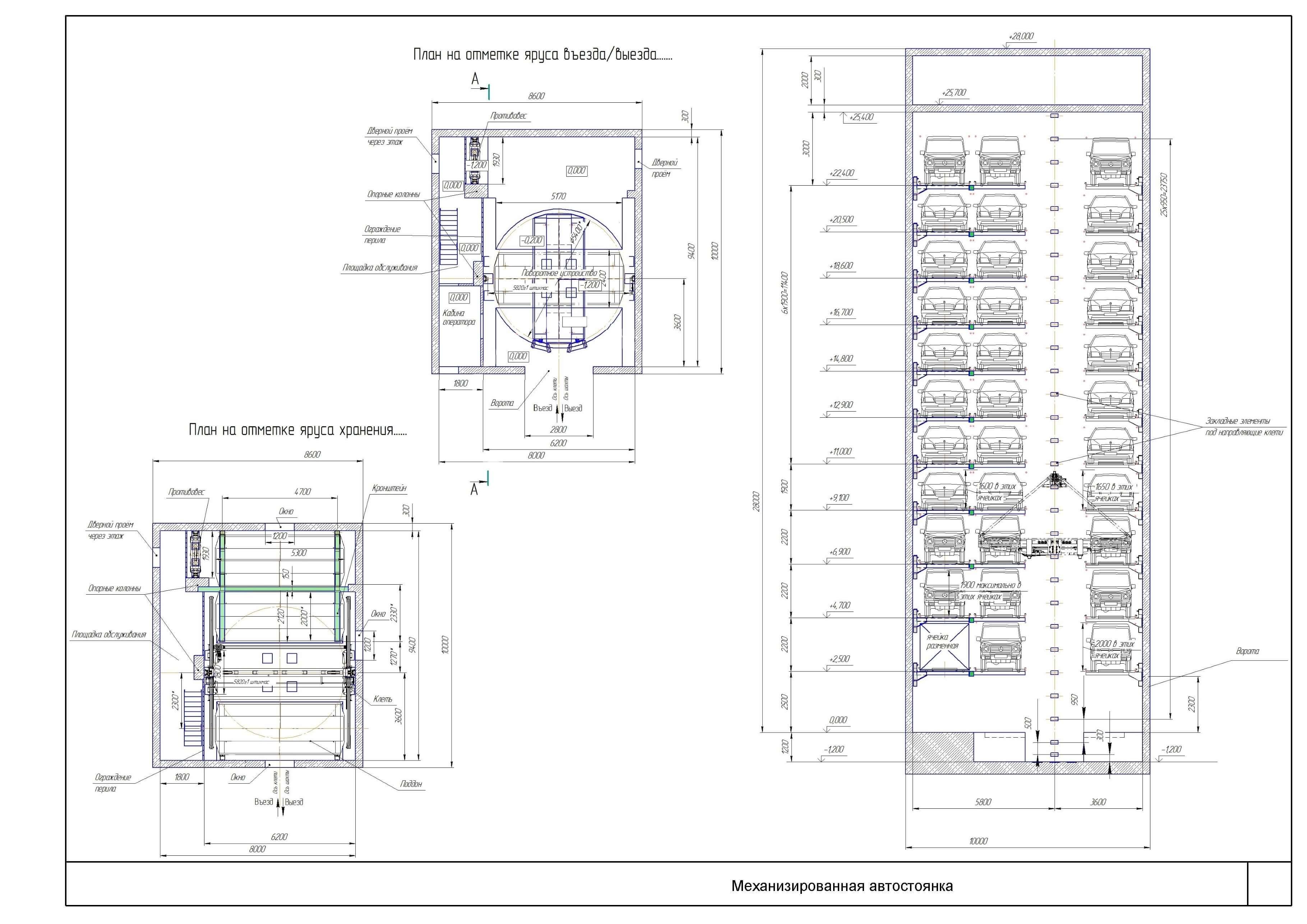 Лифтовый паркинг МАС-М251П