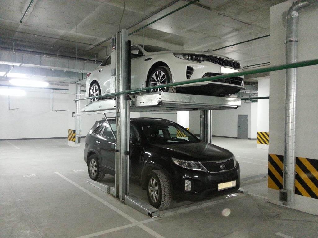 Механические парковки. Парковочные подъемники.