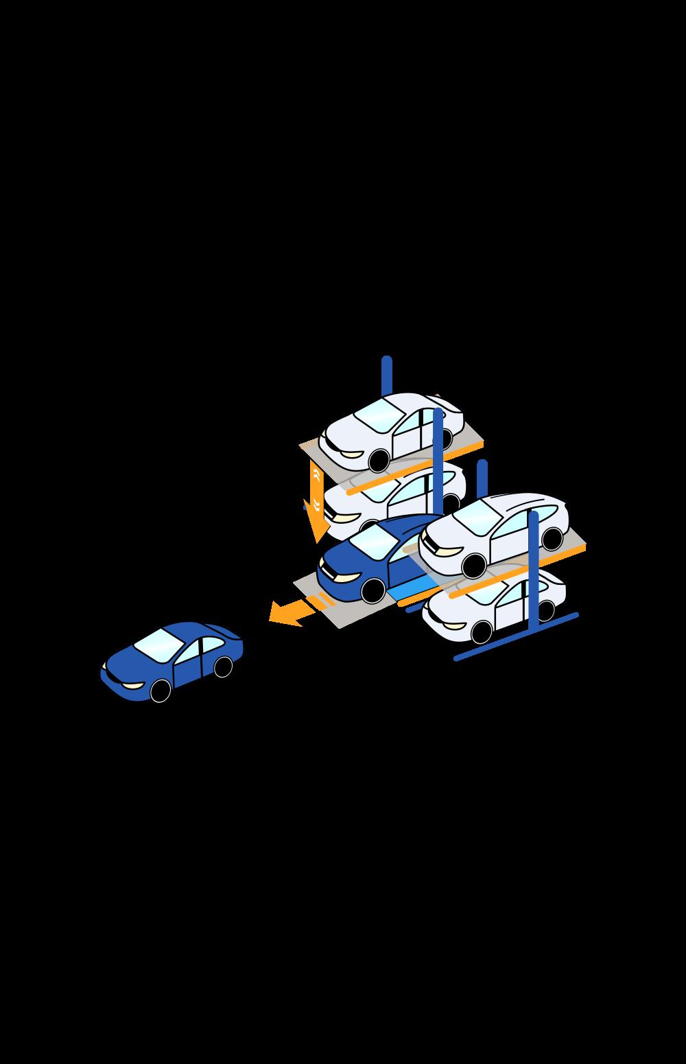 Механизированные парковки. Парковочный подъемник.