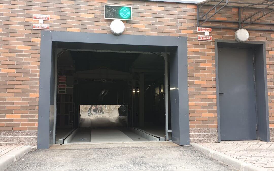 Механизированный паркинг. 9 тонн на скорости 1 метр\сек.